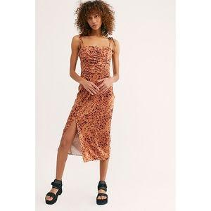 NWT Free People Show Stopper Body-Con Midi Dress